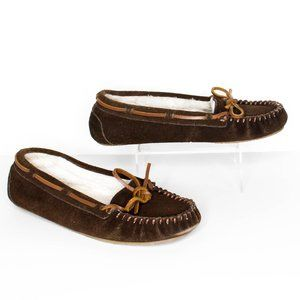 Minnetonka Womens Moccasins Slippers Brown 7 | AB